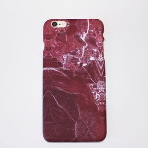 Accessories - BURGUNDY MARBLE IPHONE CASE FOR 6, 6S, 6 PLUS
